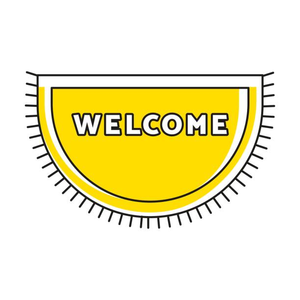 Royalty Free Welcome Mat Clip Art Vector Images Illustrations