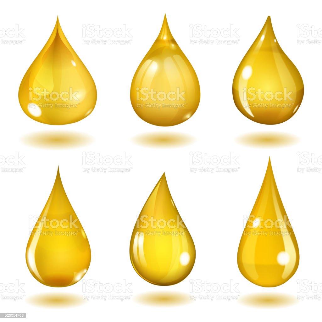Yellow drops vector art illustration