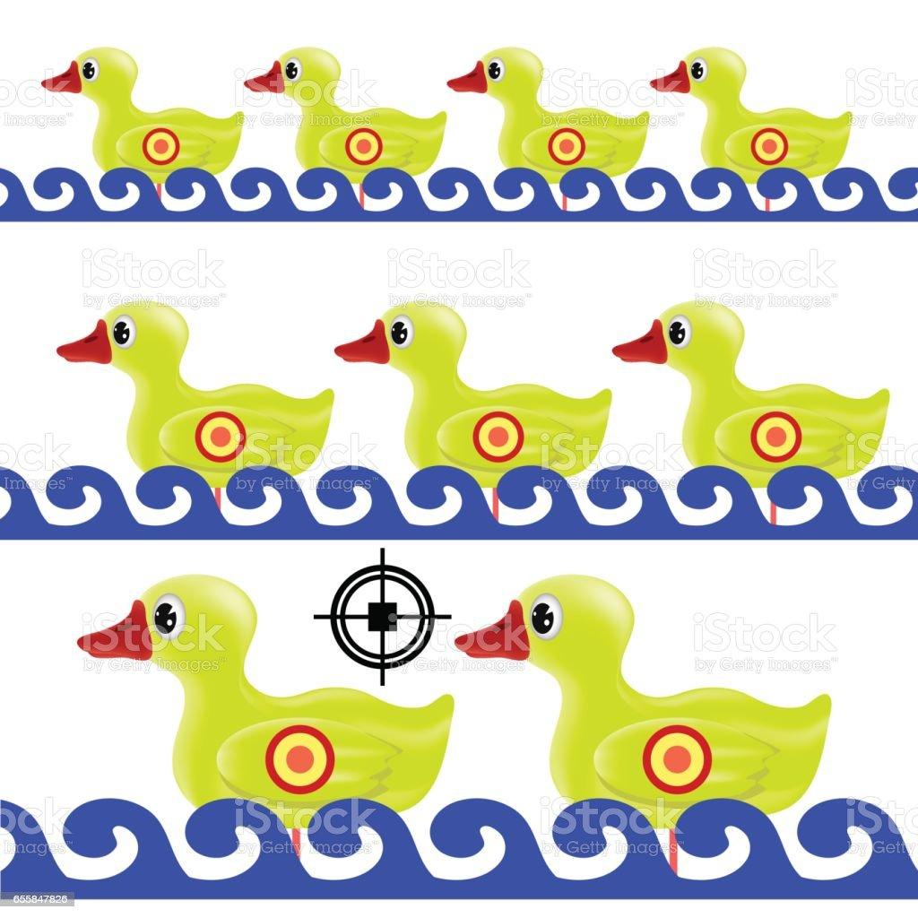 Yellow Duck Target vector art illustration