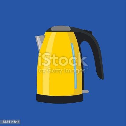 istock Yellow electric kettle 615414844