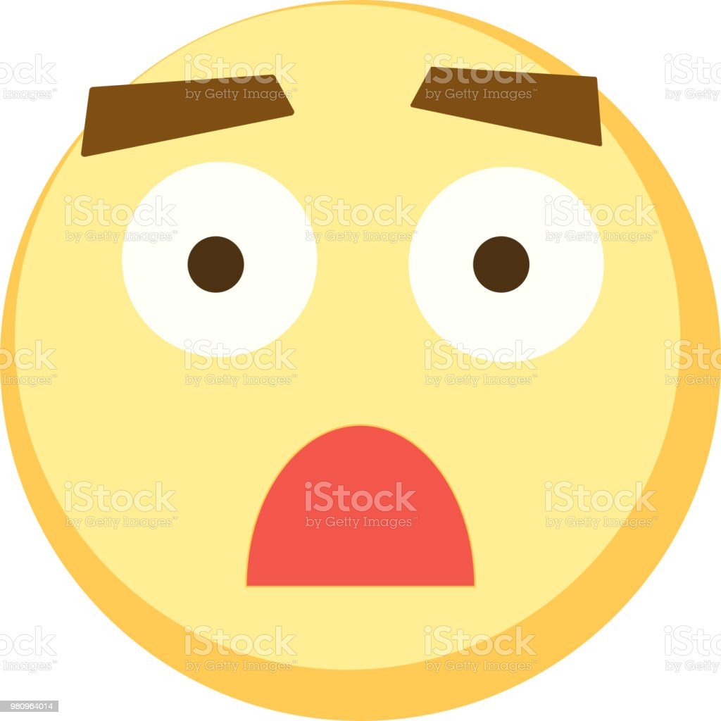 Yellow emoji icon for app game, ui or web design template. Vector emotion sign eps10 vector art illustration