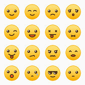 Yellow emoticons set