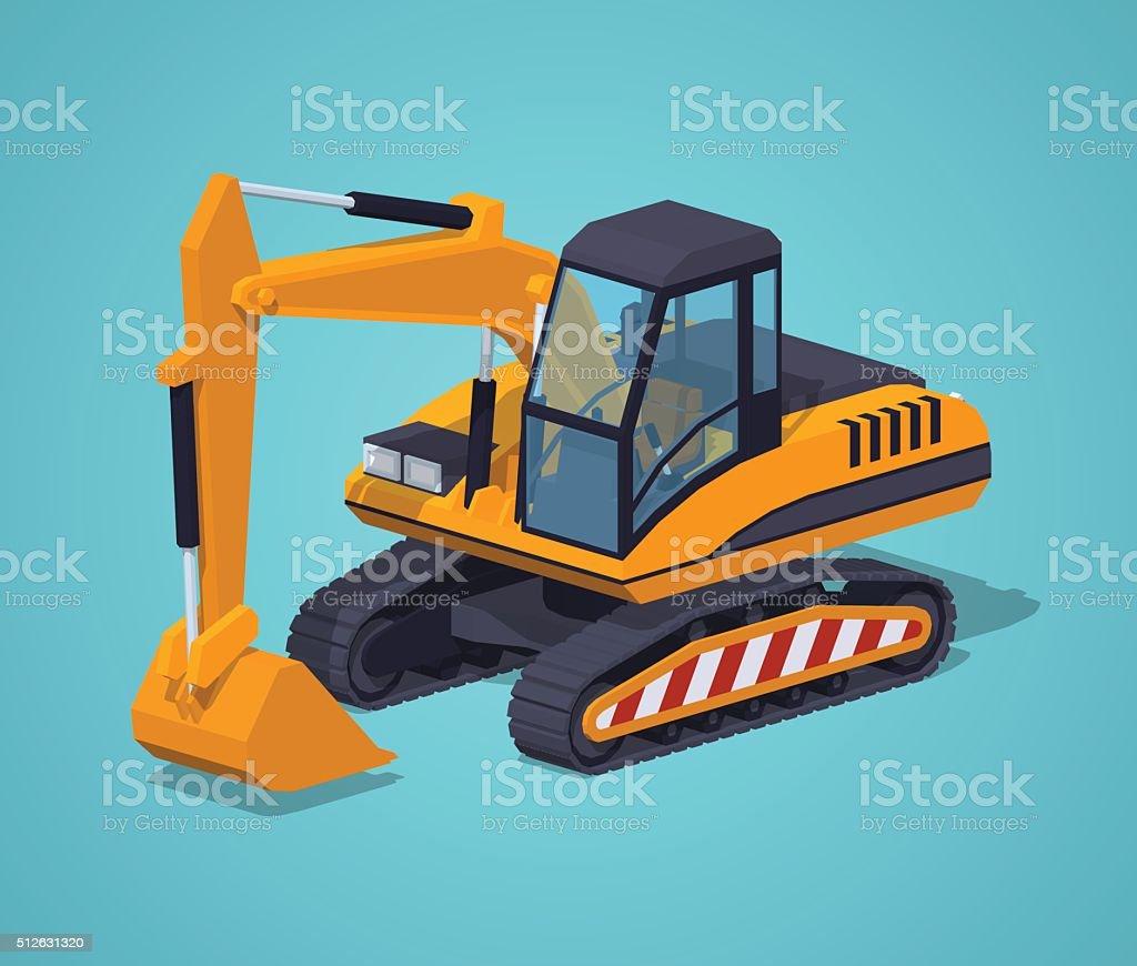 Gelbe Bagger. Besondere Maschinen – Vektorgrafik