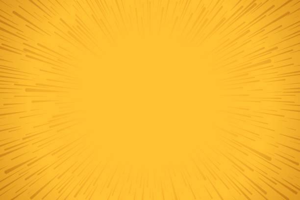 黄色の爆発背景 - ドキドキ点のイラスト素材/クリップアート素材/マンガ素材/アイコン素材