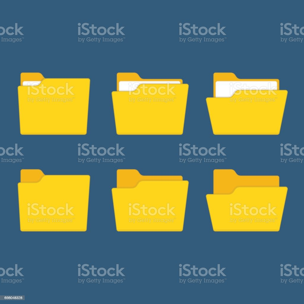 Yellow folder vector. vector art illustration