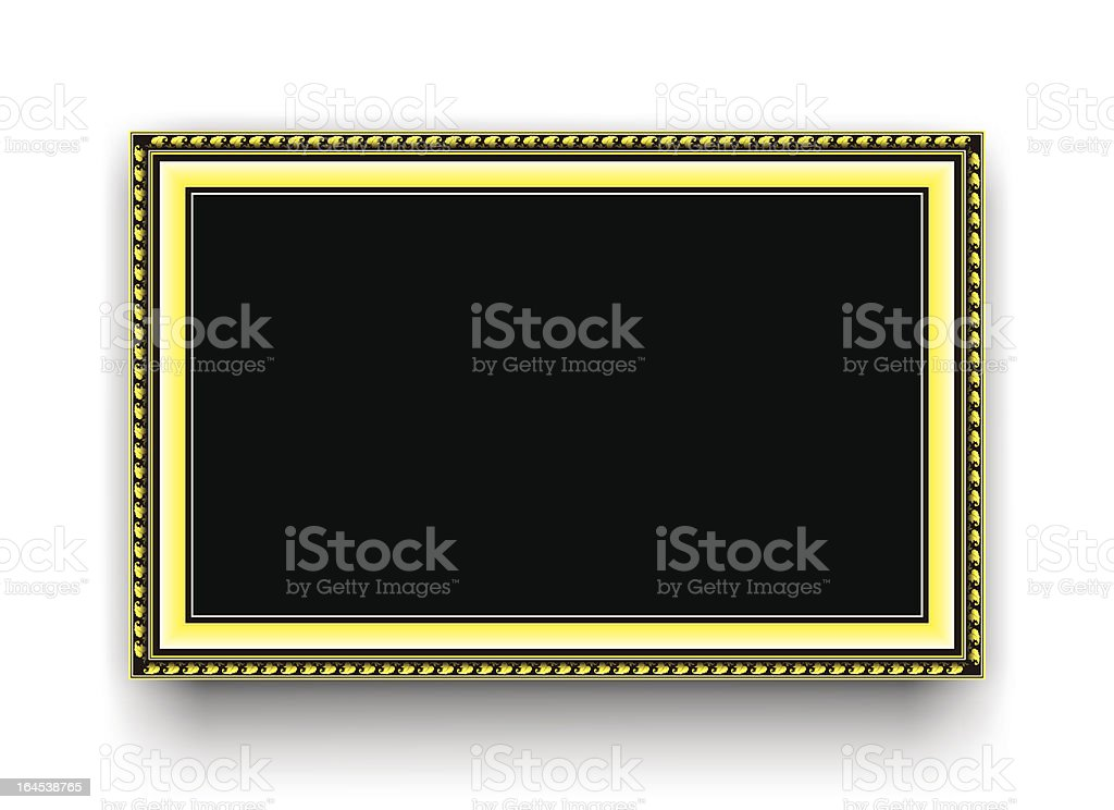Yellow frame royalty-free stock vector art