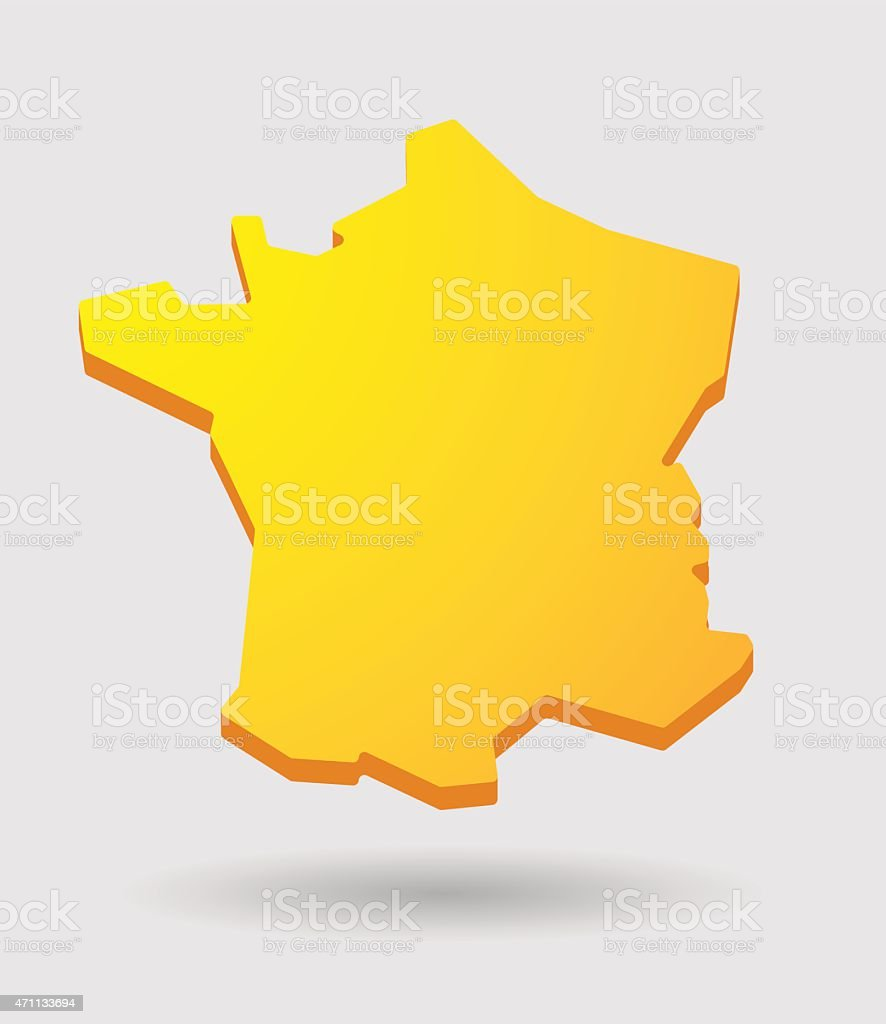 carte de france jaune