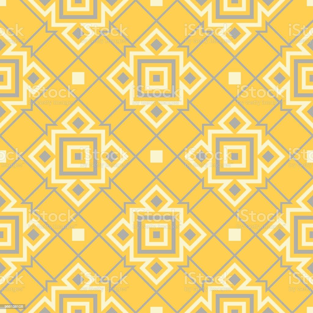 Gelben geometrischen Hintergrund. Hellen nahtlose Muster - Lizenzfrei Abstrakt Vektorgrafik