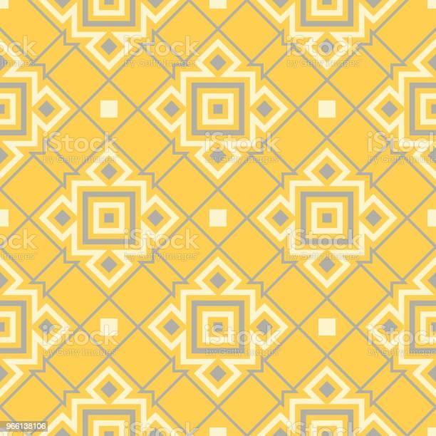 Gul Geometrisk Bakgrund Ljusa Sömlösa Mönster-vektorgrafik och fler bilder på Abstrakt