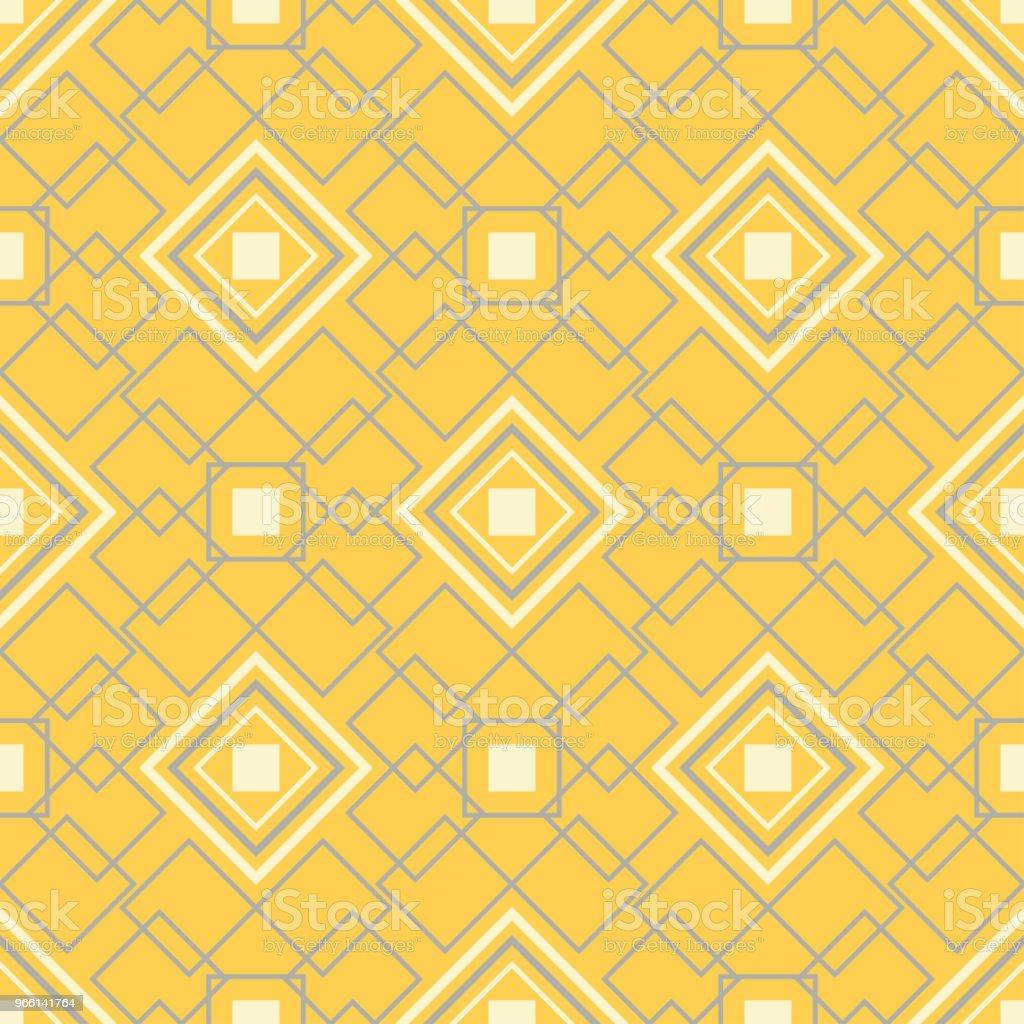 Yellow geometric background. Bright seamless pattern - arte vettoriale royalty-free di Astratto