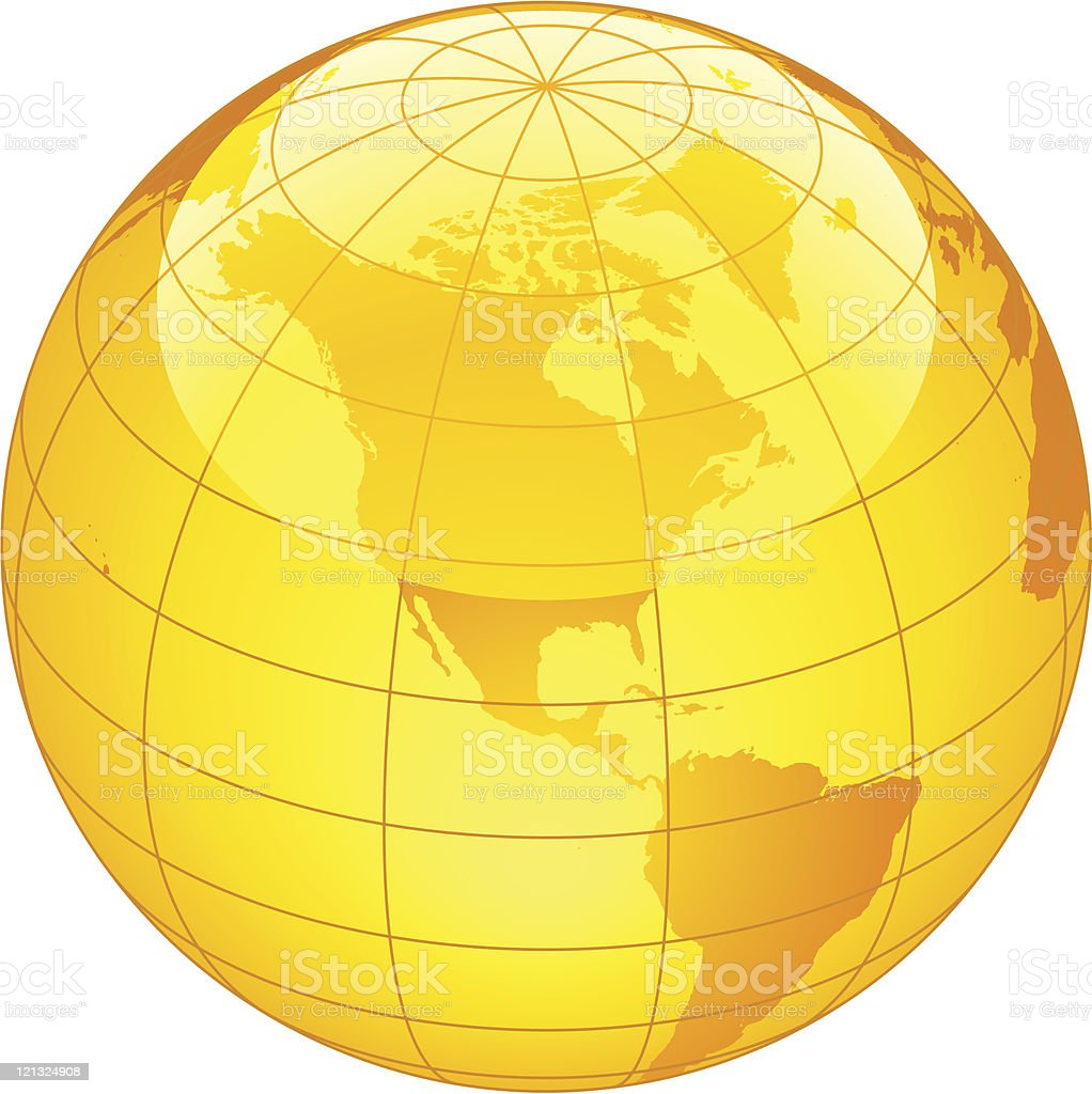 Yellow globe royalty-free yellow globe stock vector art & more images of abstract