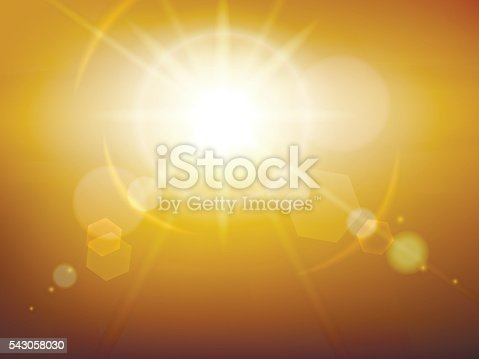 Yellow glow sunshine or vector sunburst background