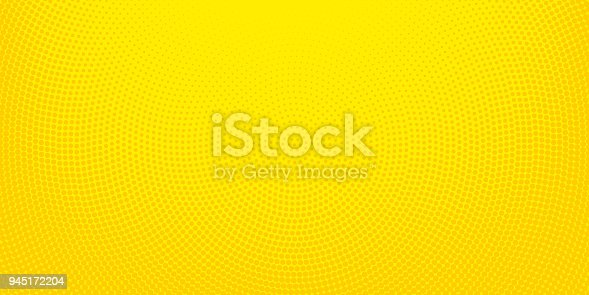 istock Yellow halftone spotted background 945172204