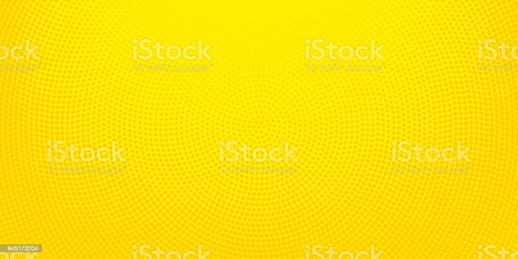 Yellow halftone spotted background vector art illustration