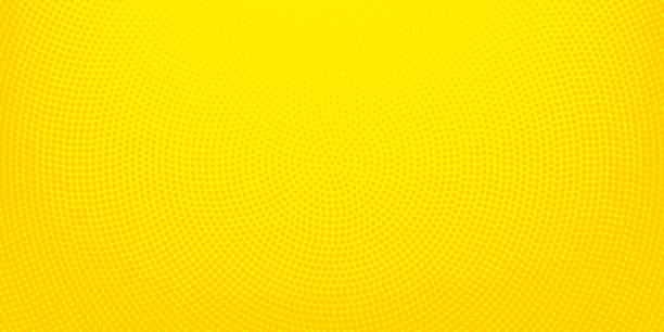 yellow halftone spotted background - yellow stock illustrations