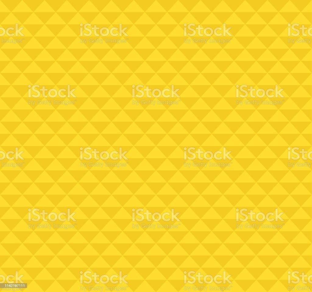 Gele Hawaiiaanse Driehoek Tattoo Patroon Achtergrond