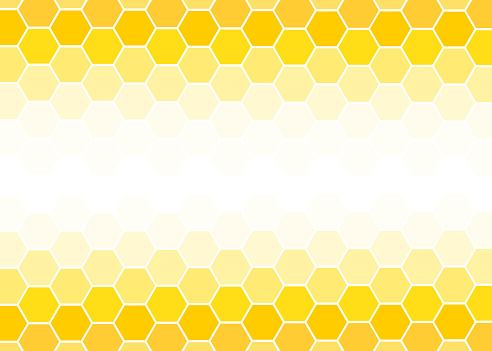Yellow Hexagon abstract background vector design illustration.