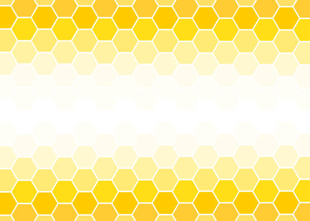 Yellow Hexagon abstract background vector design illustration. Yellow Hexagon abstract background vector design illustration. beehive stock illustrations