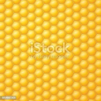 Yellow Honeycomb Backg...