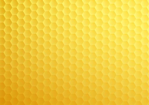 Yellow honeycomb hexagon texture