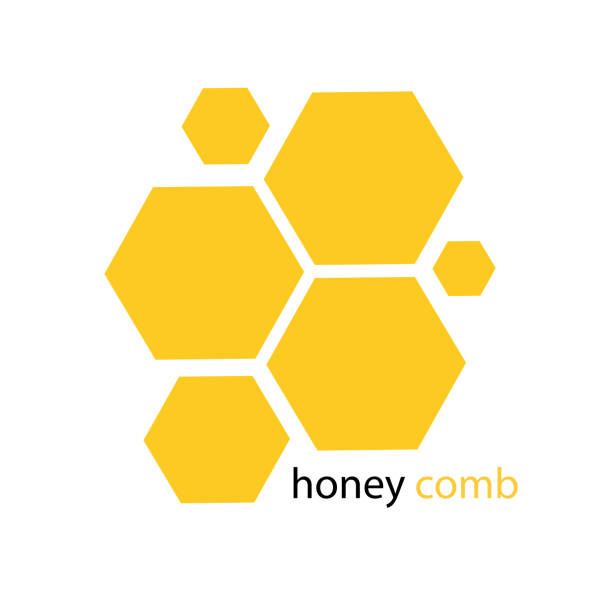 Yellow Honeycomb Pattern White Background Vector Image Yellow Honeycomb Pattern White Background Vector Image beehive stock illustrations