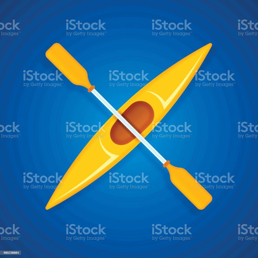 Yellow Kayak yellow kayak - arte vetorial de stock e mais imagens de amarelo royalty-free