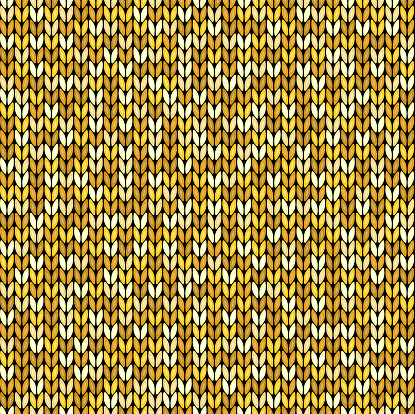 Yellow knitted seamless background pattern