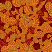 yellow leaf pattern background.(ai eps10 with transparency effect)