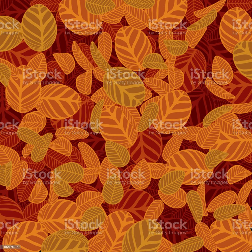 yellow leaf pattern background vector art illustration