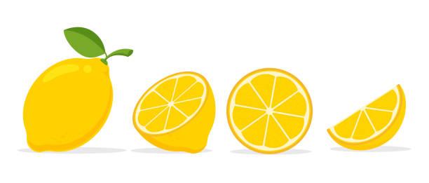 żółty wektor cytrynowy. cytryna jest owocem, który jest kwaśny i ma wysoką witaminę c. pomaga czuć się świeżo. - cytryna stock illustrations