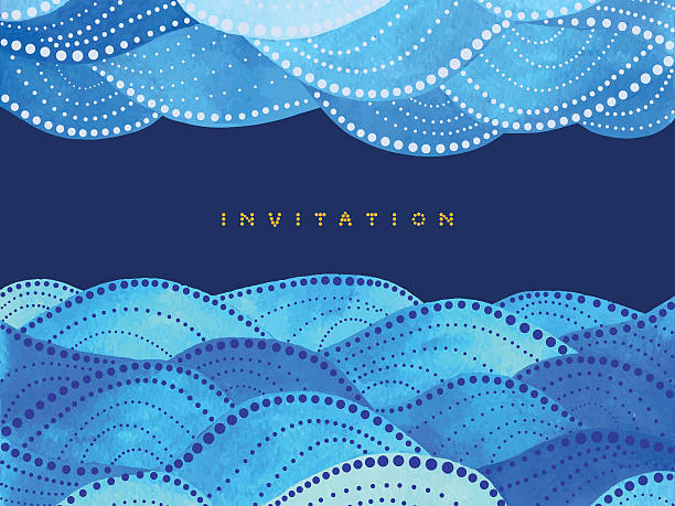 yellow lettering invitation with ornament - beach fashion stock illustrations, clip art, cartoons, & icons
