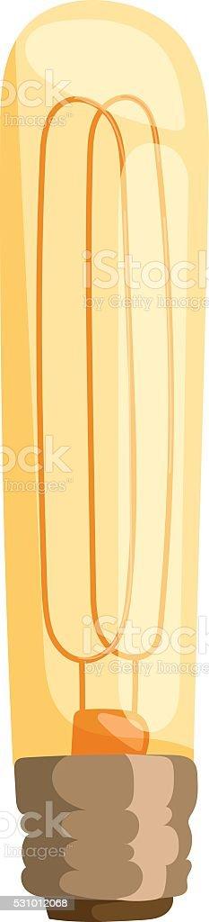 Yellow light bulb vector illustration vector art illustration