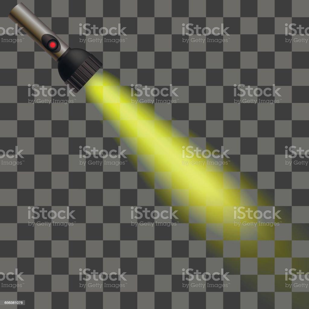 Yellow Light of Torch vector art illustration