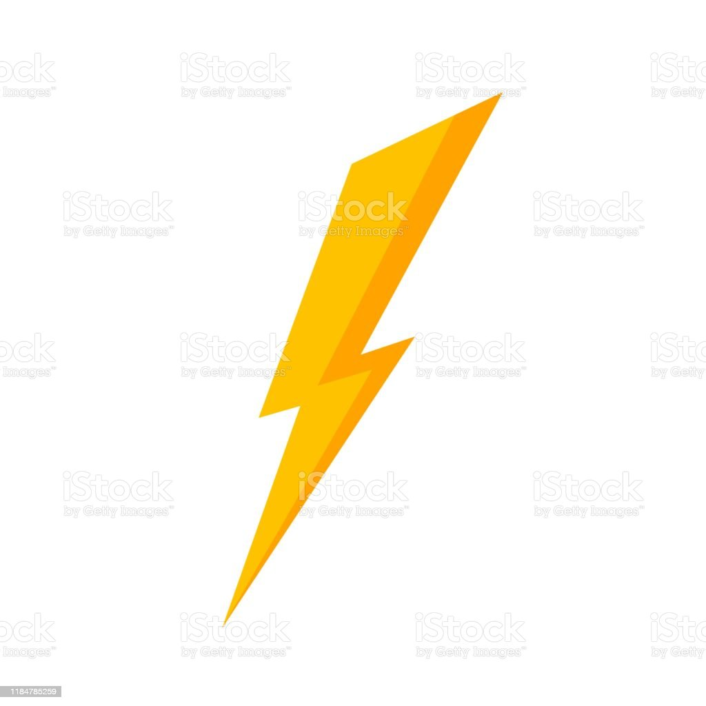 Yellow Lightning Bolt Icon Stock Illustration Download Image Now Istock