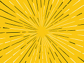 Yellow line burst abstract hand drawn lines explosion background.