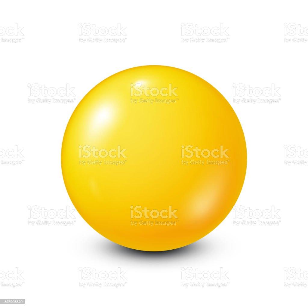 Yellow lottery, billiard,pool ball. Snooker. White background. Vector illustration vector art illustration