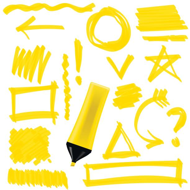 Yellow Marker Isolated vector art illustration