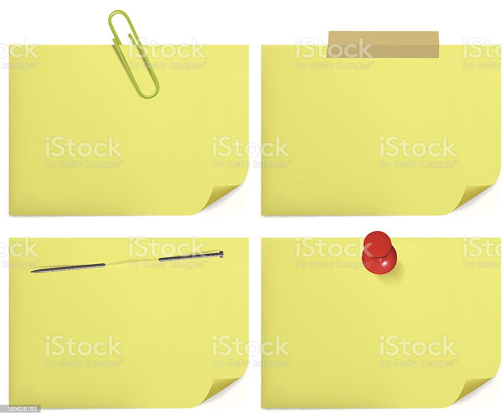Yellow Notes royalty-free stock vector art