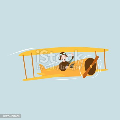 istock Yellow old airplane 1325253459