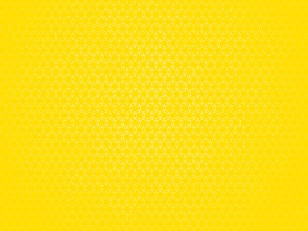 yellow outline hexagon pattern vector art illustration