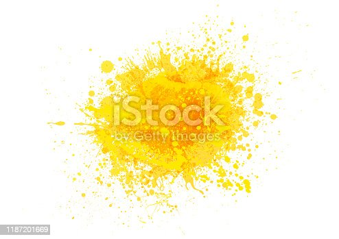 istock Yellow paint splash 1187201669