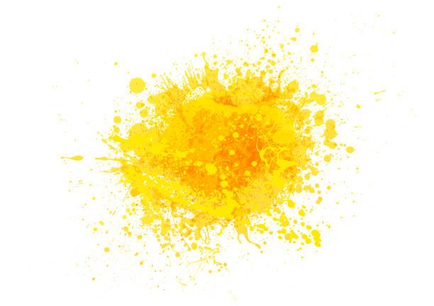 노란색 페인트 스플래시 - 노랑 stock illustrations