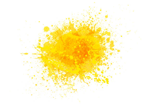 Yellow paint splash Yellow paint splash abstract vector background fruit backgrounds stock illustrations