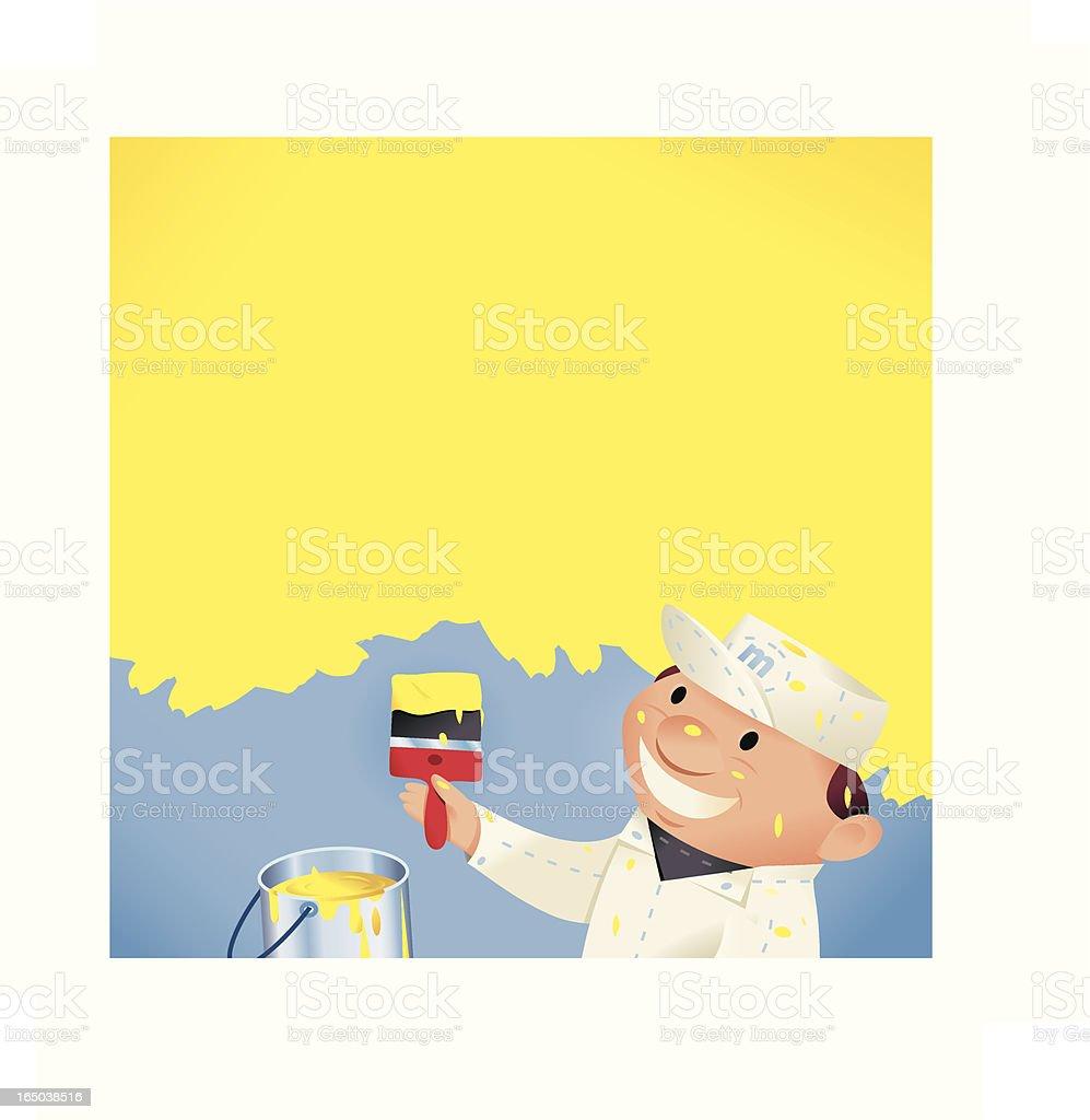 Yellow Painter royalty-free stock vector art