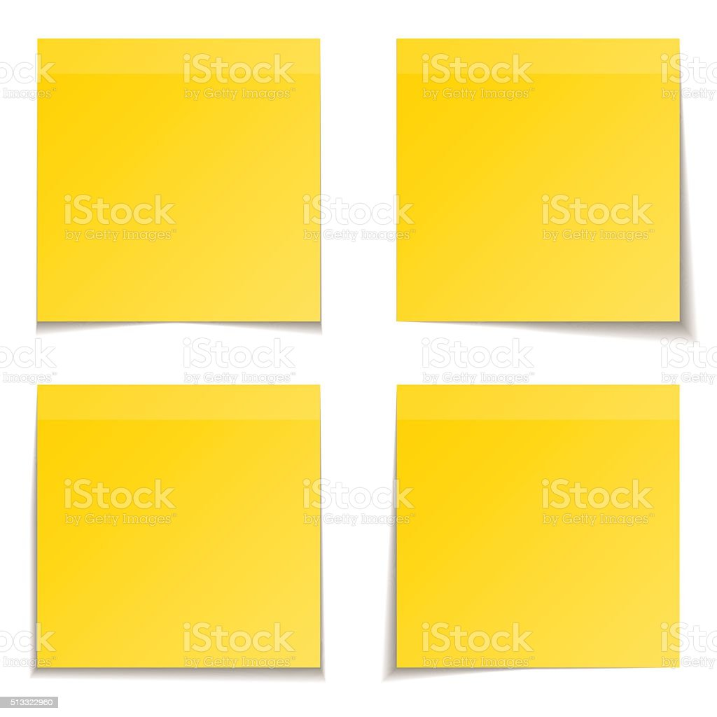 yellow paper vector art illustration