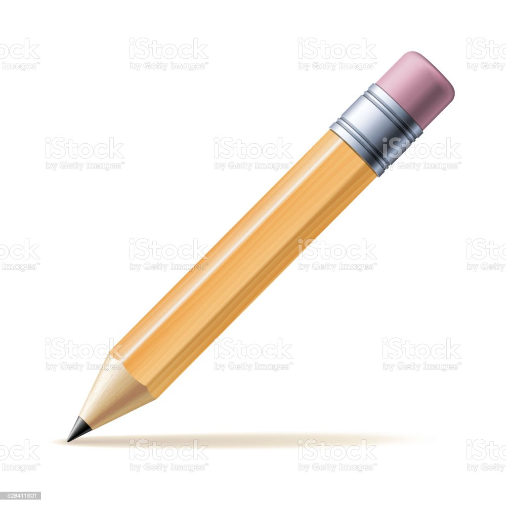Yellow pencil vector art illustration