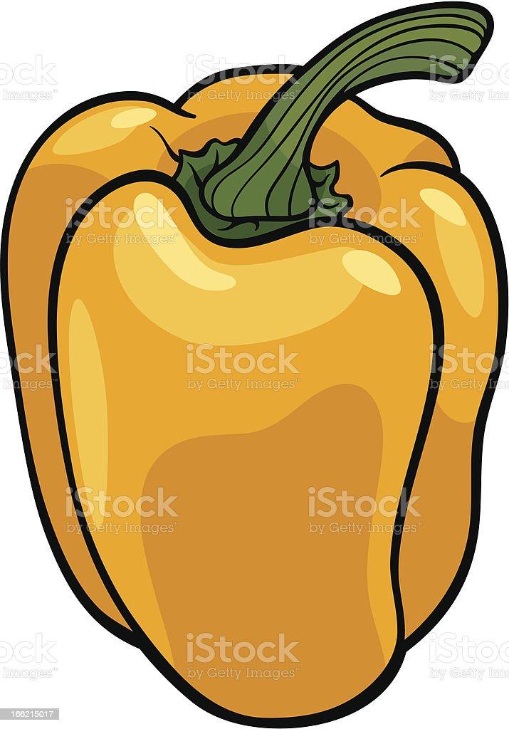Coloriage Paprika Dessin Anime.Legumes Illustration De Dessin Anime De Piment Jaune Vecteurs