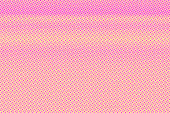 Yellow pink dotted halftone. Contrast subtle dotted gradient. Half tone vector background. Artificial texture. Pink dot on yellow backdrop. Pastel pop art design template. Glitch halftone texture