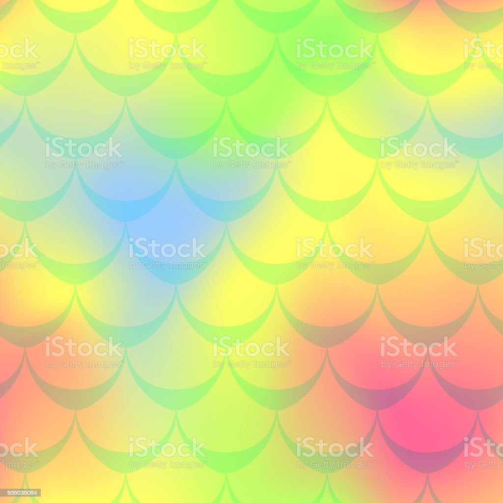 Yellow pink mermaid vector background. Multicolored iridescent background. vector art illustration