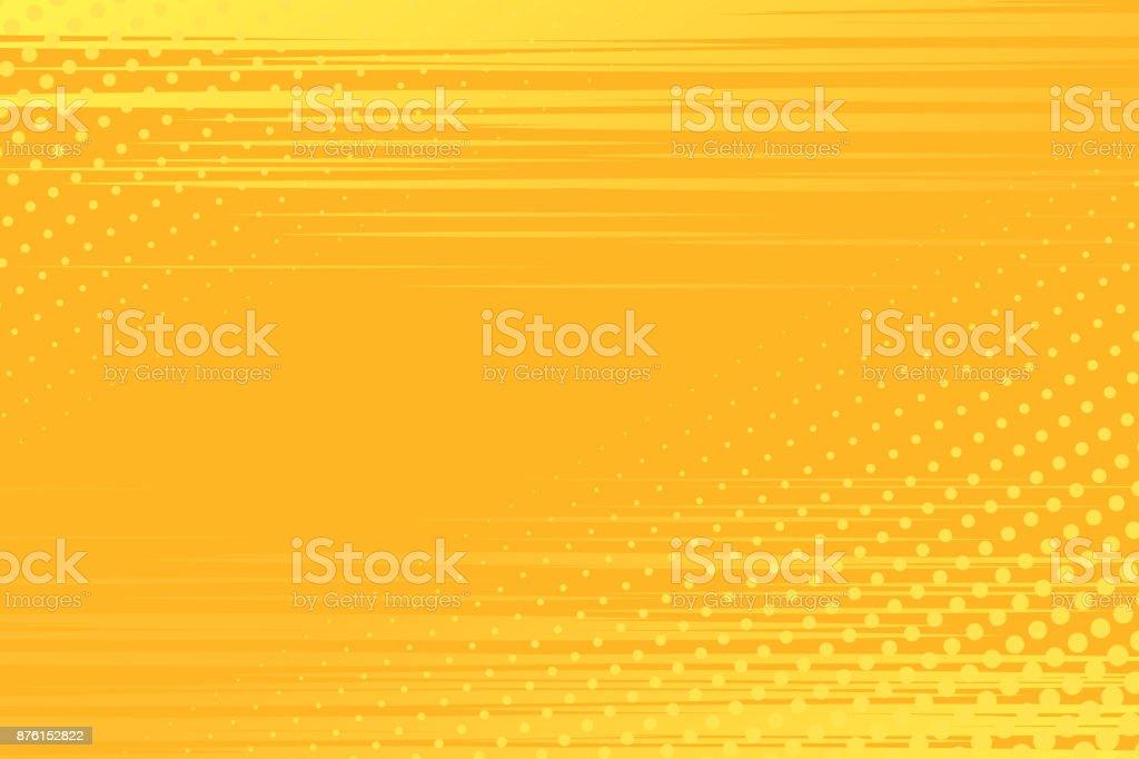 Yellow pop art background - Векторная графика Абстрактный роялти-фри